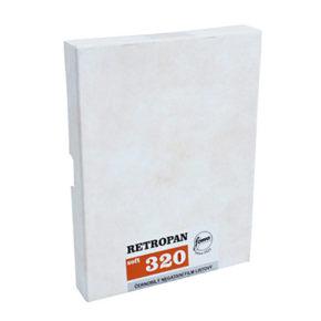 "Foma Retropan 320 листовая плёнка 4x5"" (10.2x12.7cm) 25 листов"