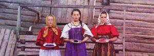 Крестьянские девушки. [Нижняя Топорня. Река Шексна.] [1909 год]
